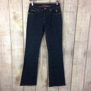 Baby Phat Dark Wash Bootcut Stretch Jeans Sz 5